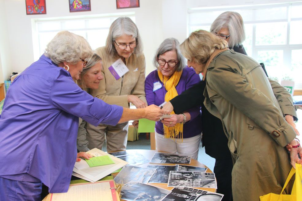 Beauvoir '57 alumnae shared stories of their days as Beauvoir students when they returned to Cathedral Close during their 50th reunion at National Cathedral School in May 2016.