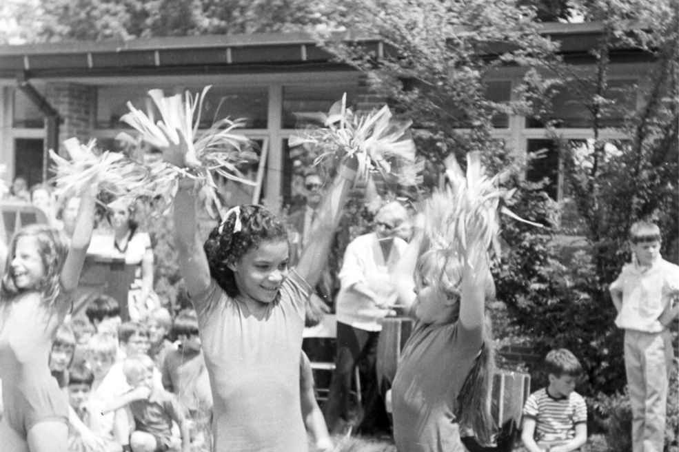 Dance performance in the courtyard