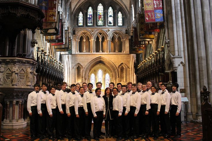 Choir at St. Patrick's Cathedral in Ireland