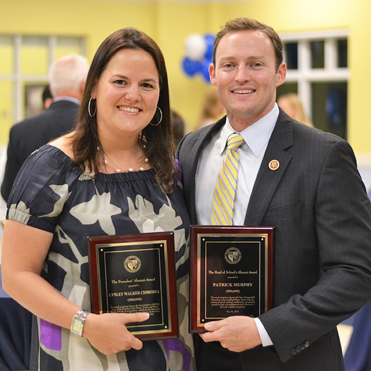 Founders Alumni Award – Lynley (Walker) Ciorobea '96 Head of School's Alumni Award – Patrick E. Murphy '01