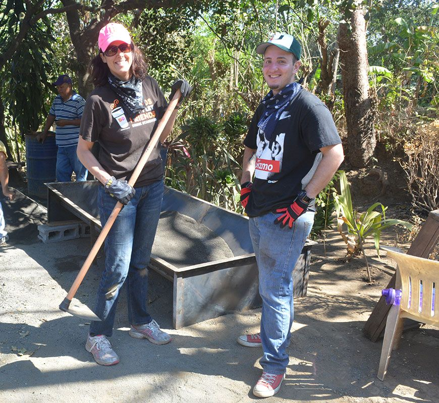 PTS Faculty members help build a house in Nicaragua