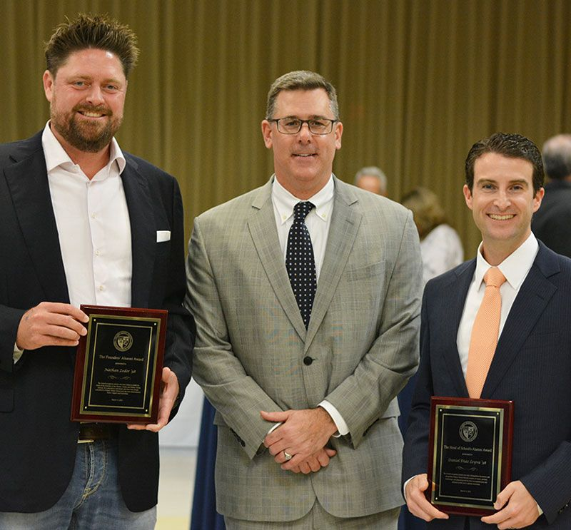 Founders Alumni Award – Nathan Zeder '98 Head of School's Alumni Award – Daniel Diaz Leyva '98