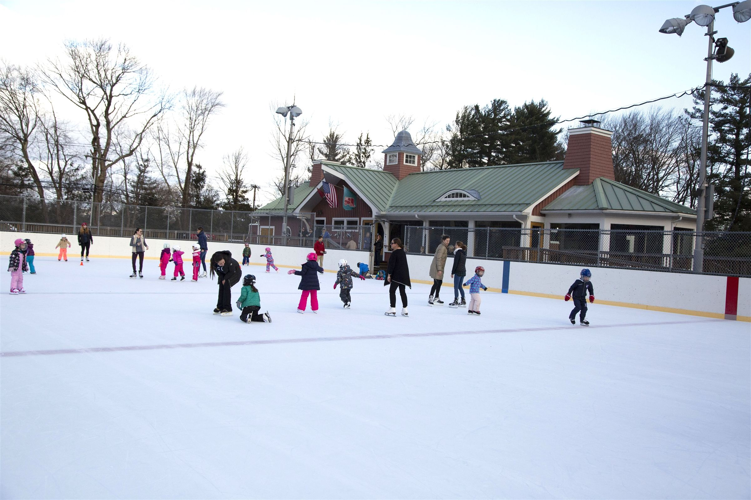 The New Canaan Winter Club, privately owned but affiliated with Country School, is the site of weekly skating lessons for Kindergarten through Grade 4, daily hockey practices and games for Grades 5 through 9.