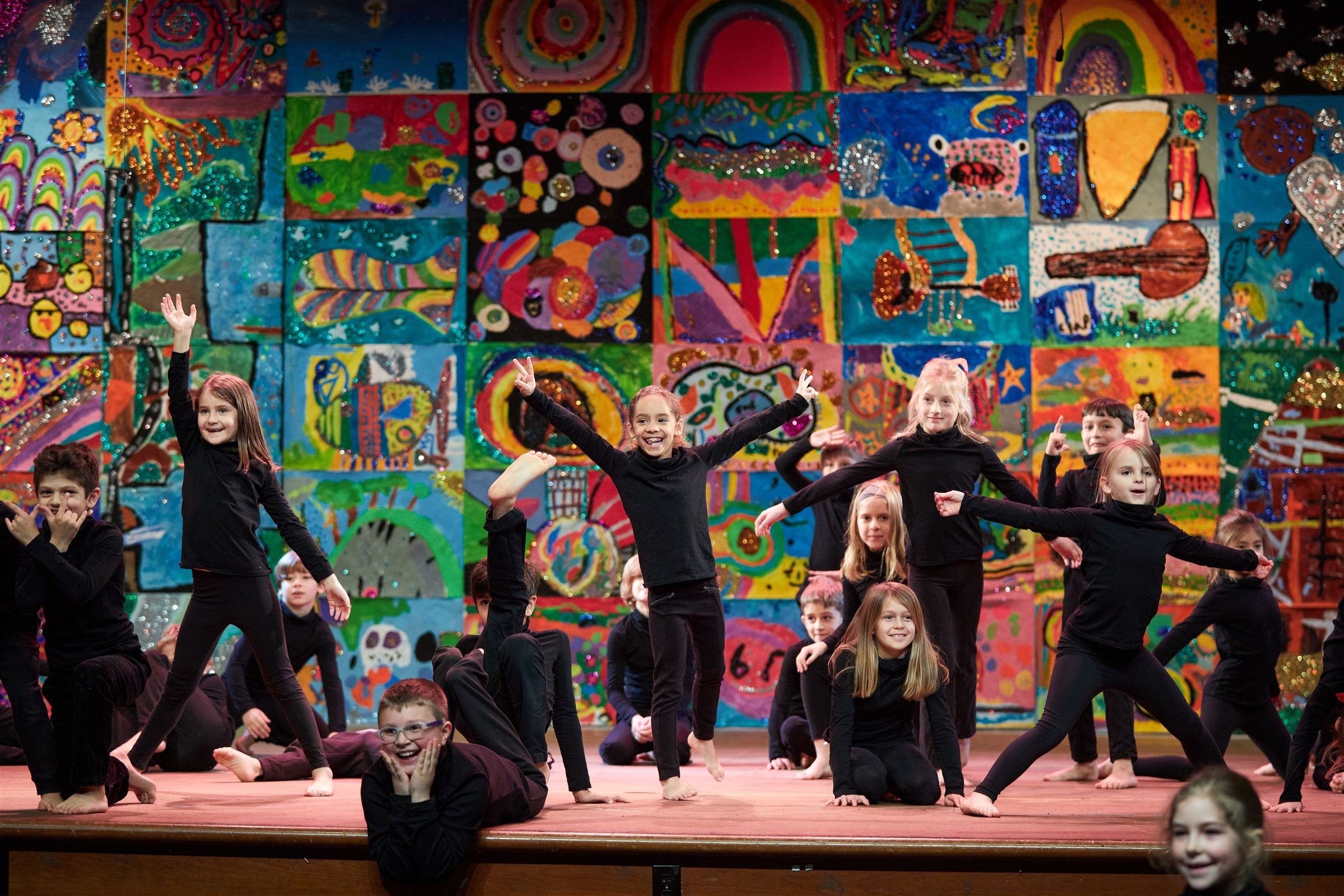 The Lower School Arts Assembly, a quintessential Country School event, in which first and second grade students create the set and choreograph all of the dances themselves.