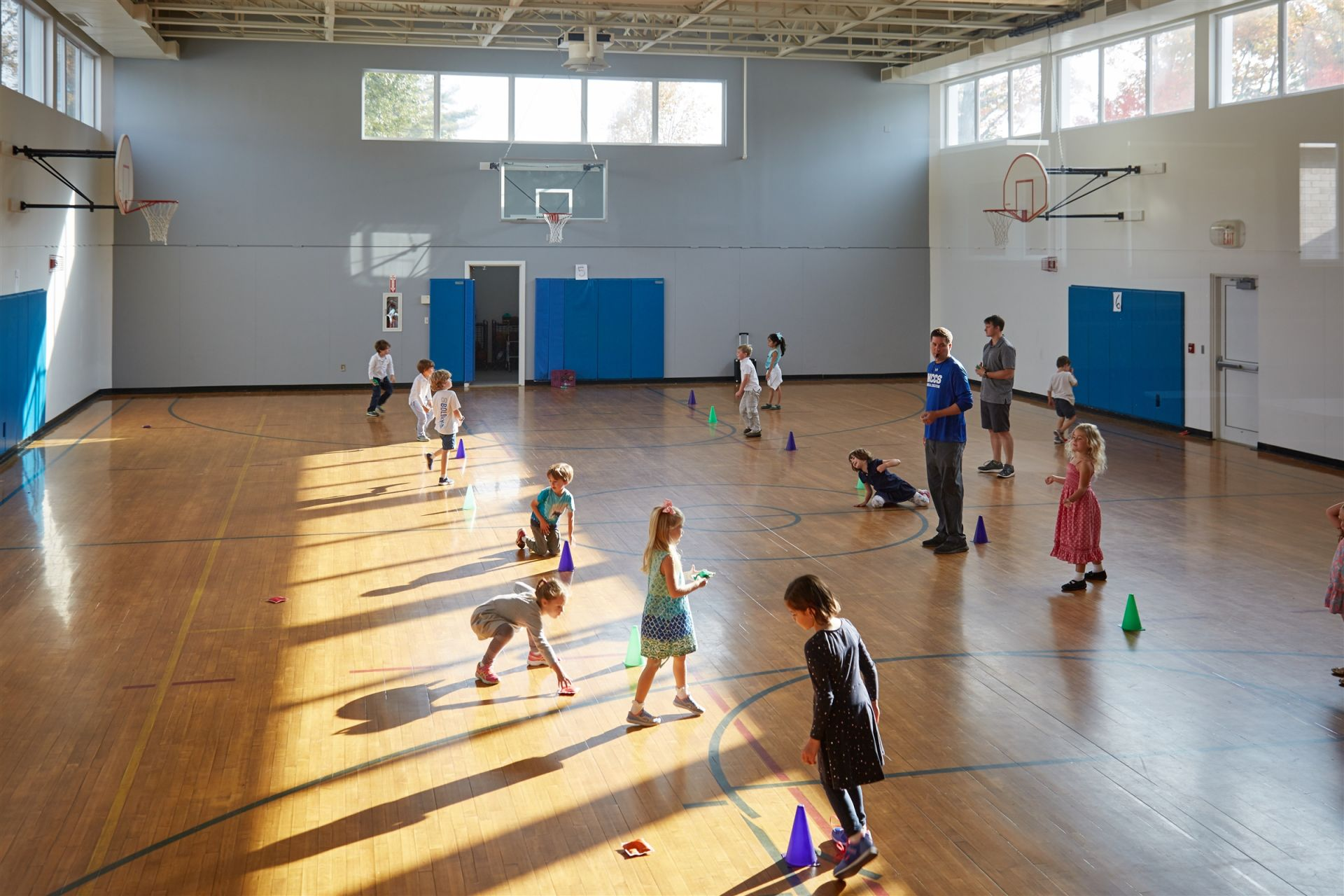 The smaller of the school's two indoor athletic facilities, the Middle School Gymnasium plays host to sports such as volleyball and basketball, as well as Lower School physical education classes and Middle School activities.