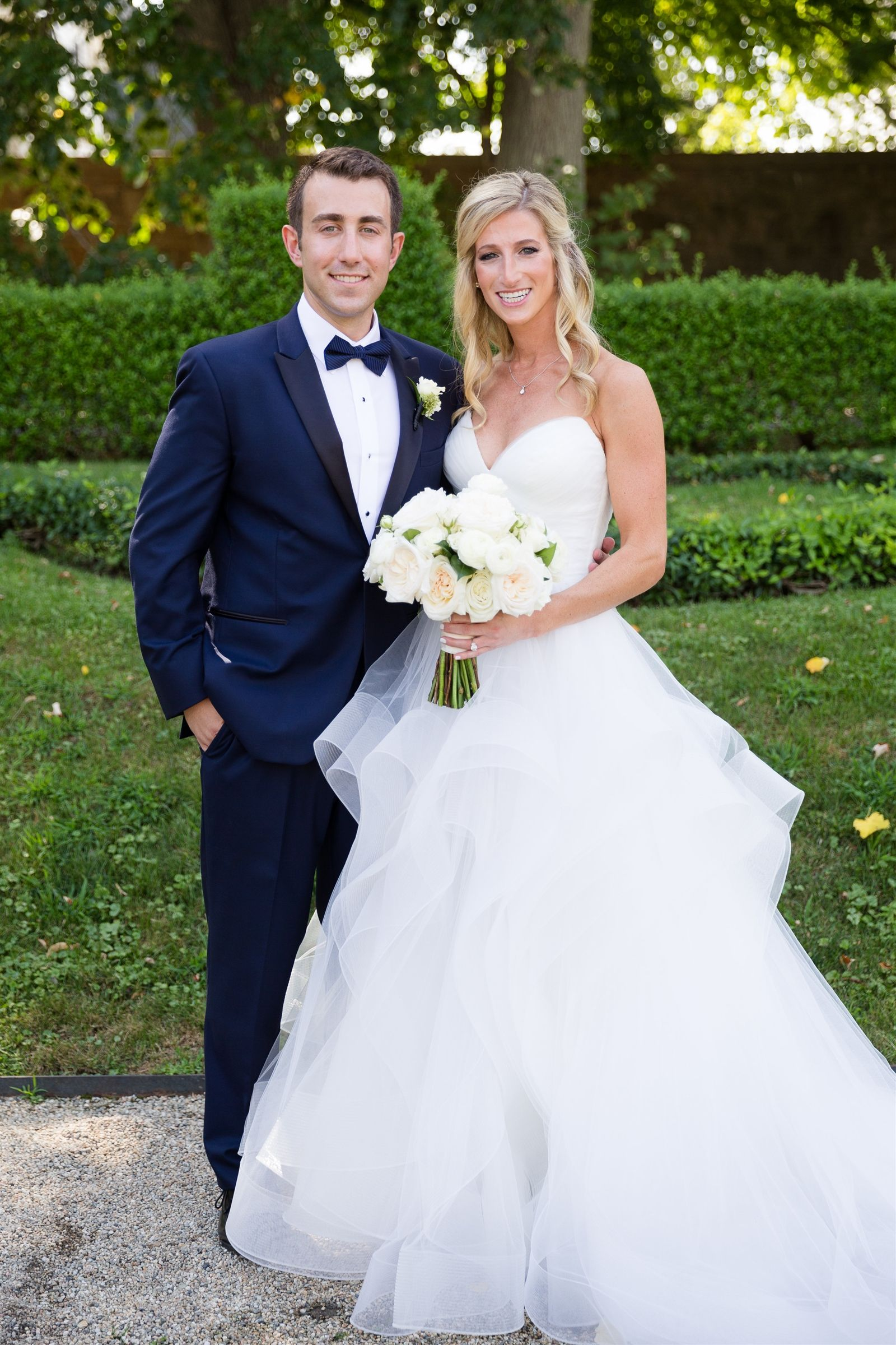 Lauren Karp '06 and her husband, Andrew, on their wedding day