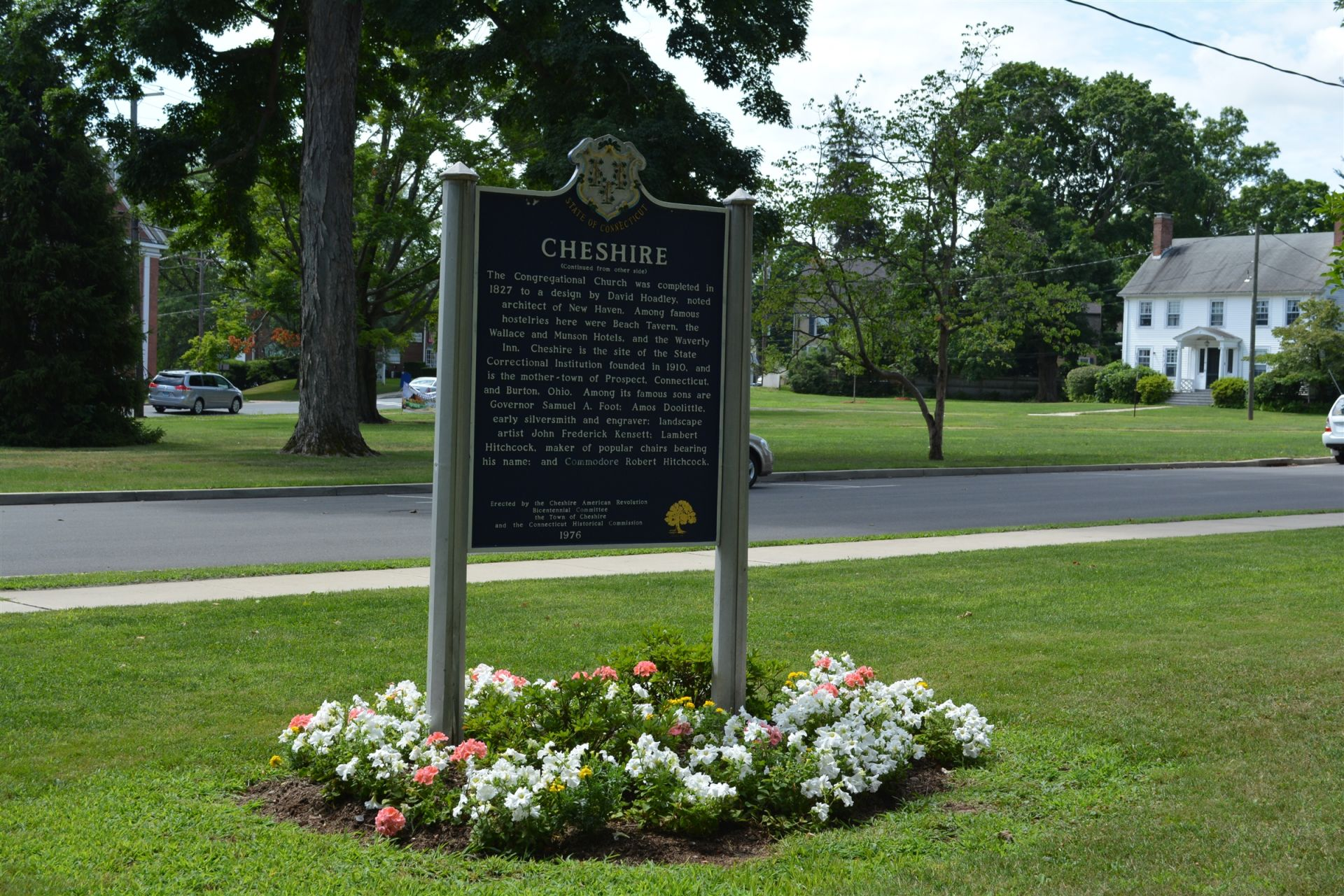"The iconic Cheshire ""Green,"" or park, is across the street from the Academy. It is the starting point for a historic walking tour and a site of winter festivals and spring garden fairs."