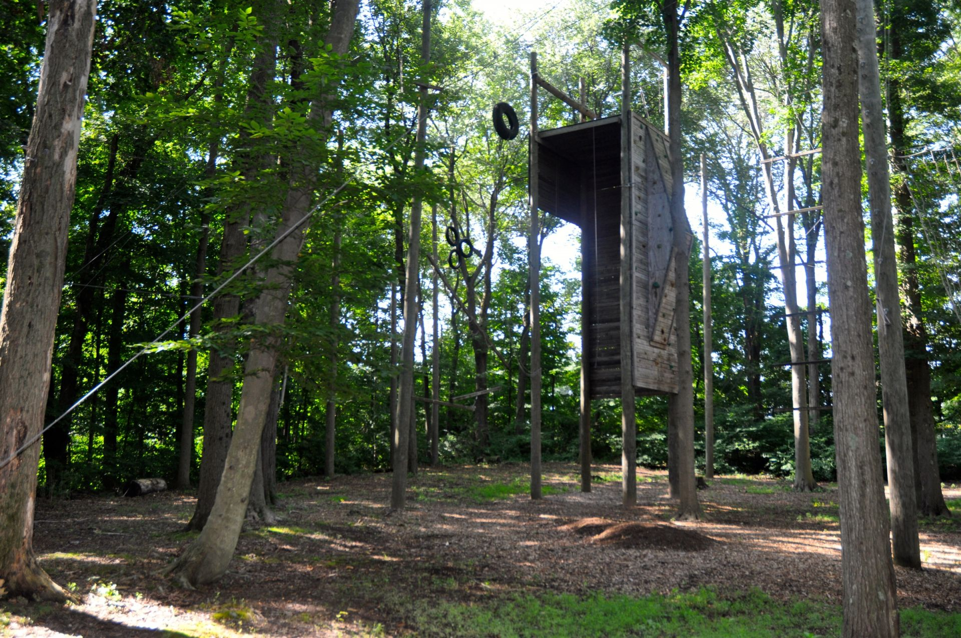 Cheshire Academy boasts a full Ropes Challenge Course on campus-- one of the few in Connecticut! In this outdoor course, personal challenges, experiential learning, and reflection help develop self-confidence, group cooperation, leadership, and decision-making skills.