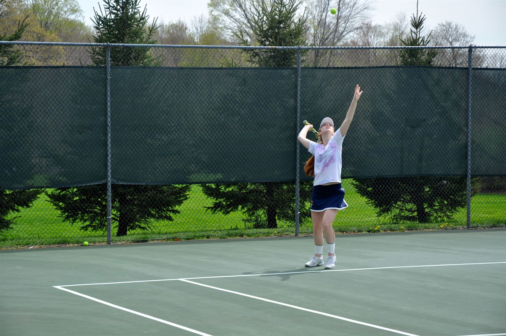 Cheshire Academy has two sets of full tennis courts, perfect for girls and boys varsity and JV teams to practice on. One set of courts is located across from the pond; the other is located by the Cross Country trail.