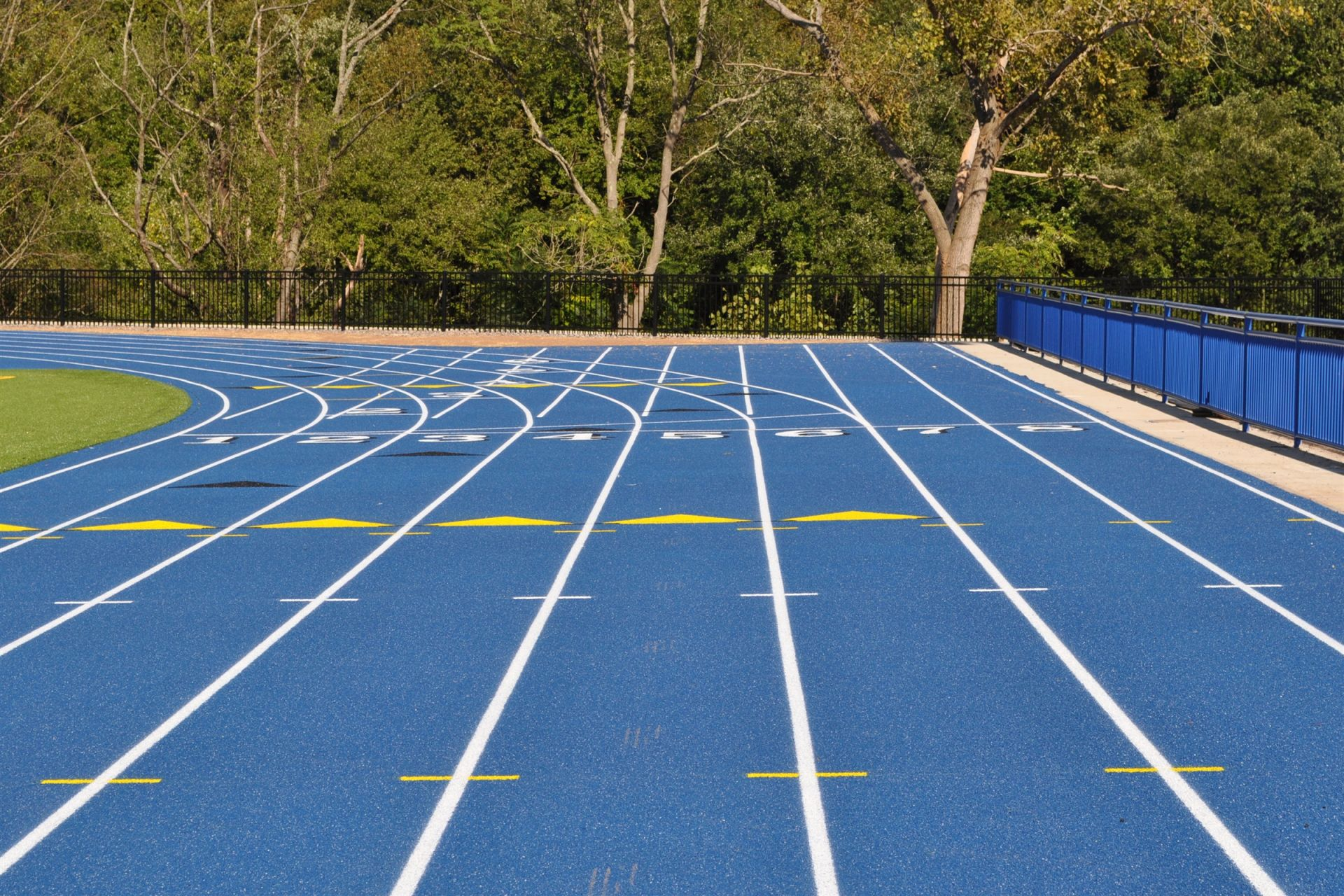 With the addition of lighting, the field now allows for night games, and an updated track has increased the number of lanes from six to eight total. Spectators can enjoy all of Cheshire Academy's athletic events from the comfort of several bleachers positioned alongside the field and track.