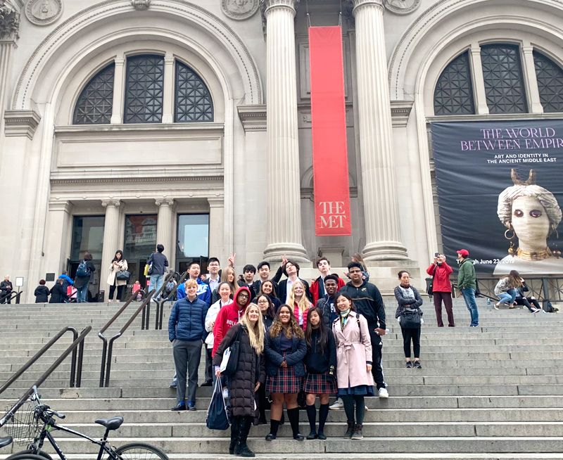 History class field trip to the MET