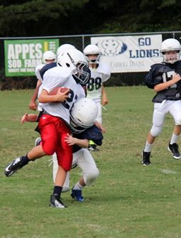 Lower School Blue & White Football