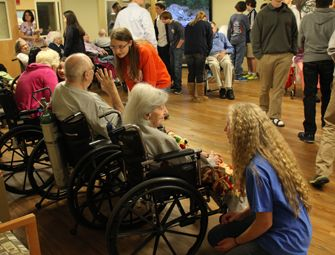 A visit to the nearby assisted living facility