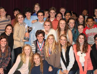 Part of the 2013 State One Act Champions cast and crew