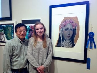 Lakeview student wins 1st Place Best in Show at the 11th Annual Charles J. Thurmond Youth Art Scholarship Awards art competition at the Quinlan Visual Arts Center