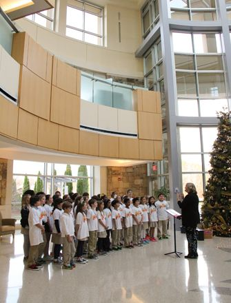 The Lakeview Pride Kids Choir performs annually at Northeast Georgia Medical Center