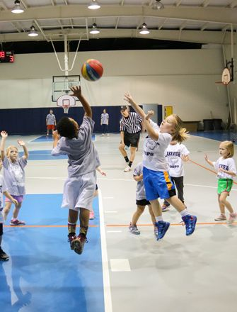 Biddy Ball and Mighty Mites basketball is for students in K4 through 2nd grades