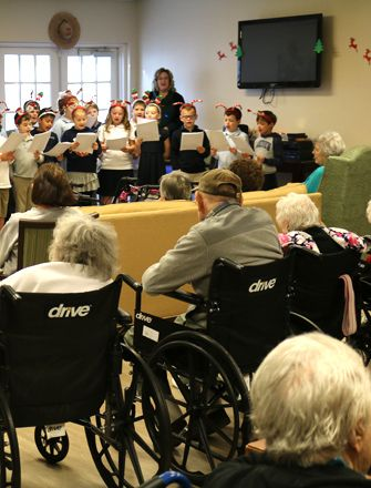 2nd grade visits local senior living facilities throughout the year