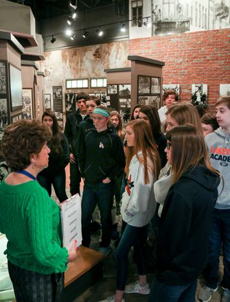 8th grade on a field trip to the Breman Jewish Heritage & Holocaust Museum