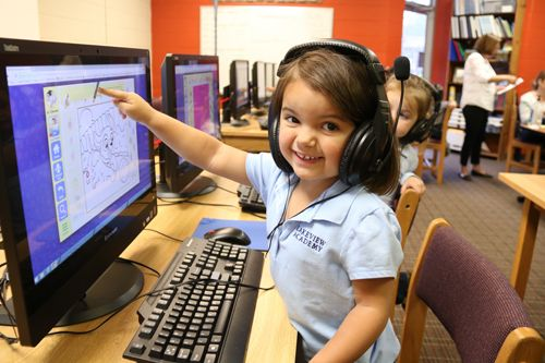 Technology is another enrichment class taught to our preschool and Kindergarten students during weekly classes.