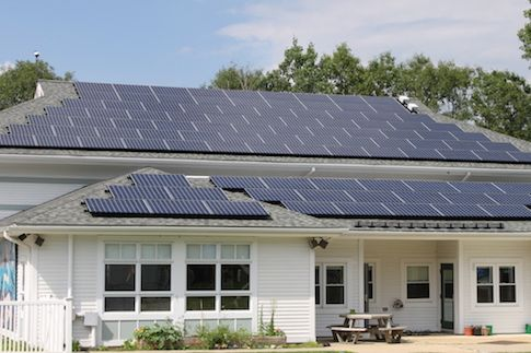 Solar panels decrease fossil fuel consumption
