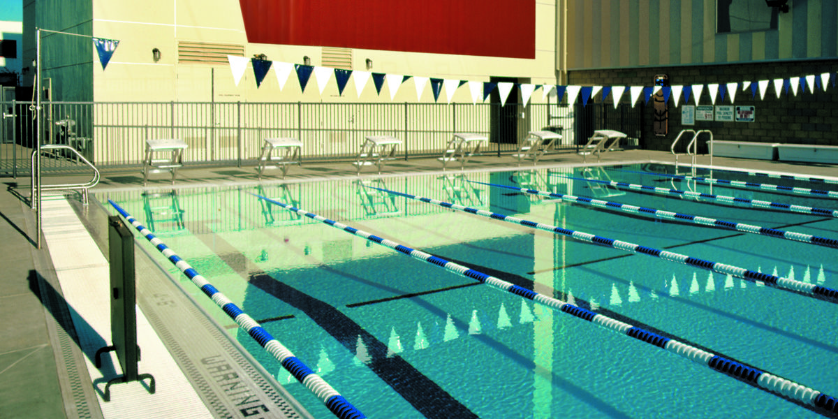 Our competition-sized swimming pool is part of our Sports Center.