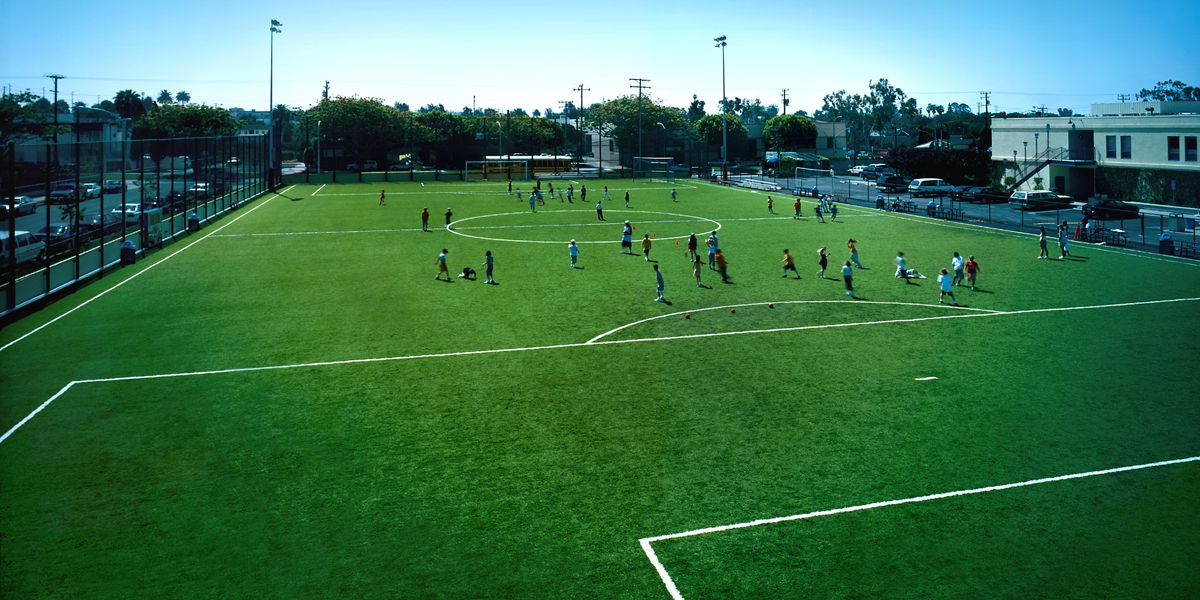 Our regulation soccer field is utilized for K-12 physical education classes and athletic competitions.