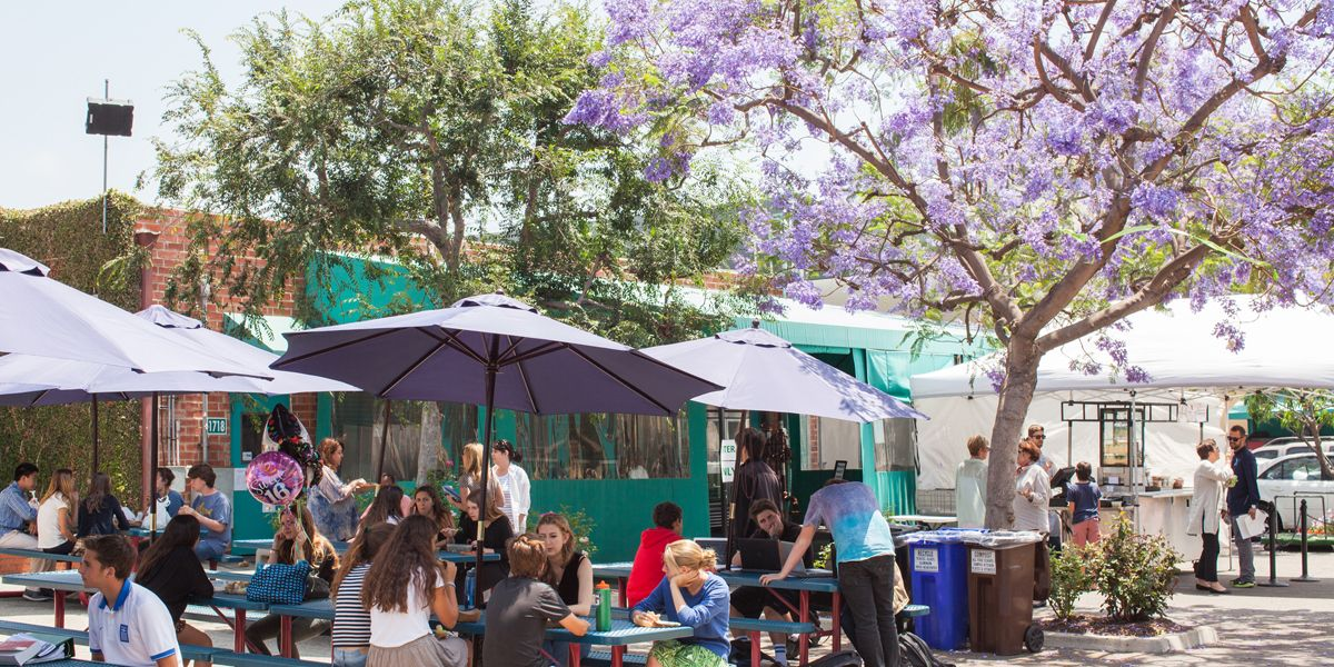 The Alley is a mainstay of our 21st Street Campus. It is where our community of students and teachers gathers together for lunch, music and conversation.