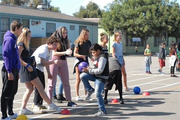 The Crossroads students promoted physical fitness through Olympics-style games and challenges.