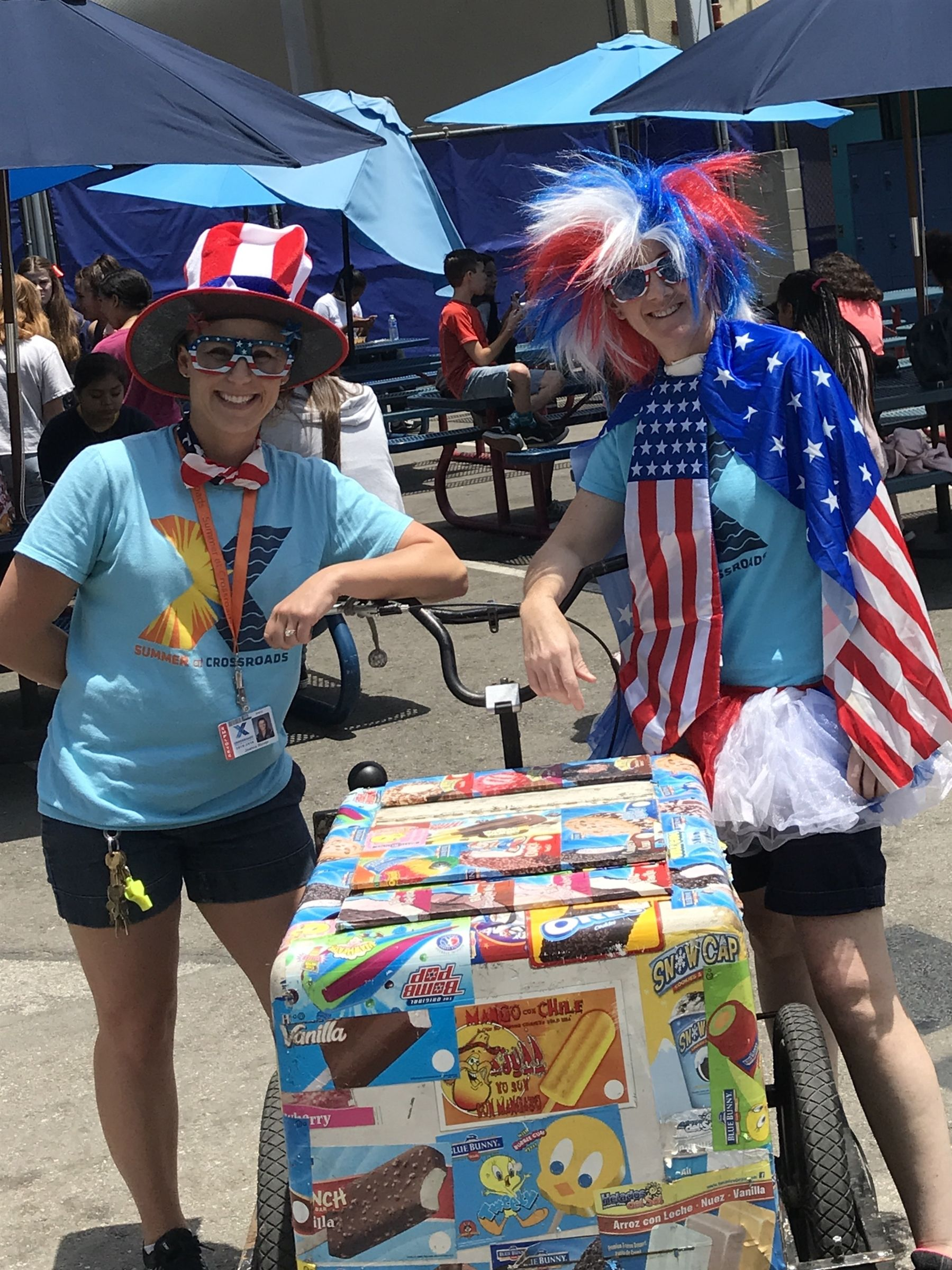 Fun in the Alley with an ice cream social to kick off 4th of July.