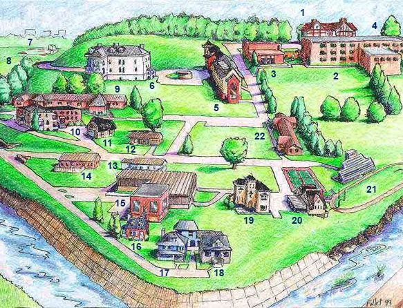Linsly campus map created by Mr. Robin Follet
