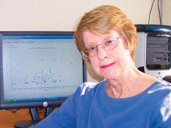 Retired researcher with The National Cancer Institute. She is still publishing papers and researching data, including the discovery of a new cancer-causing bacterium, as well as large-scale population side effects of the anti-AIDS drug AZT.