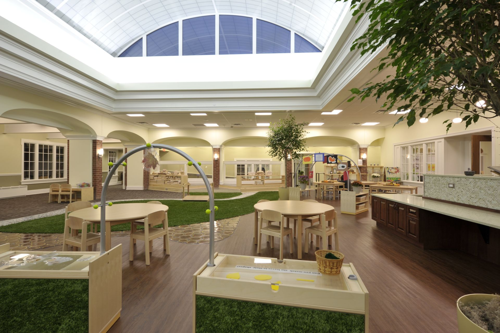The Nido is the central community space in the Early Childhood Center.