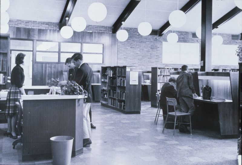 1960-1970. Library at Gates Mills campus.