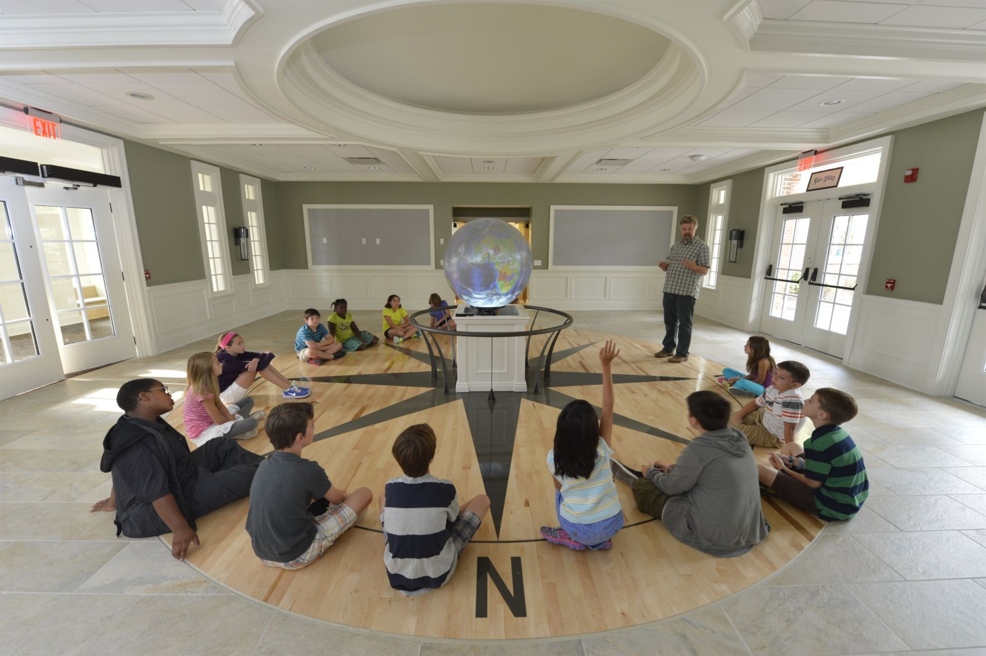 The Lower School lobby features Ohio's first iGlobe.