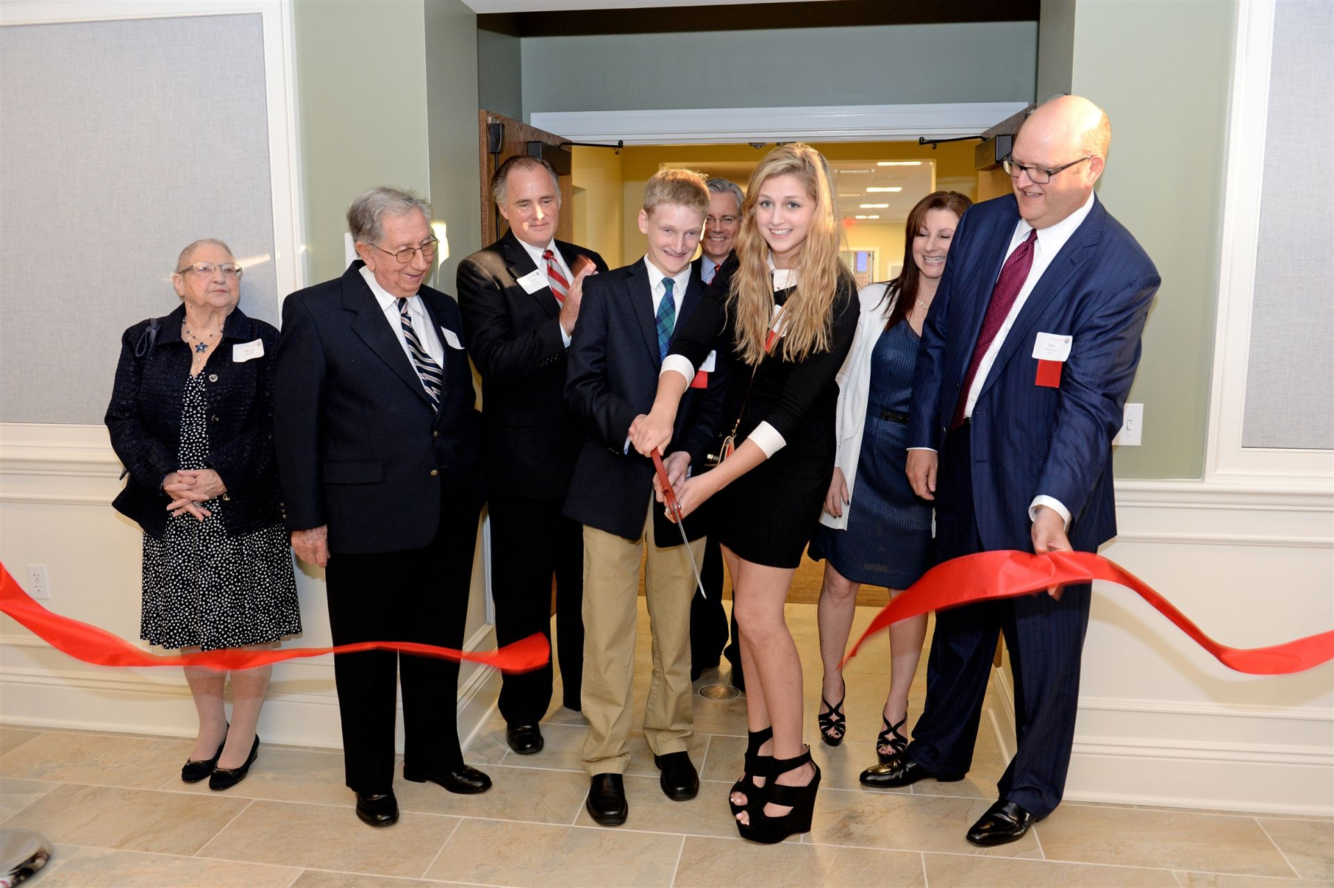 The Hurwitz family at the grand opening celebration.