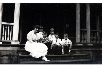 Front Steps, 1588 Ansel Road. First grade with Fannie Luehrs.