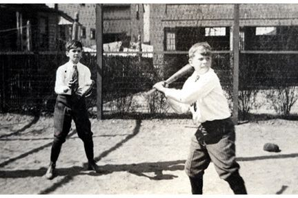 1588 Ansel Road. Two boys playing softball.