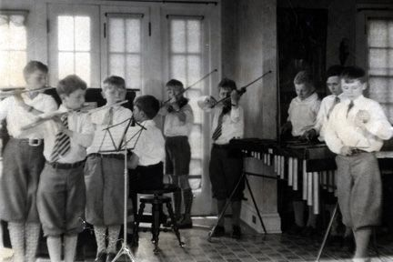 1588 Ansel Road. Boys in Orchestra (9 piece).