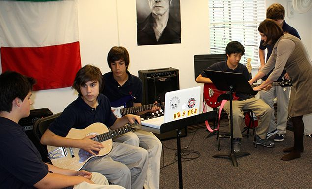The Band Room is a great place to jam during lunch.