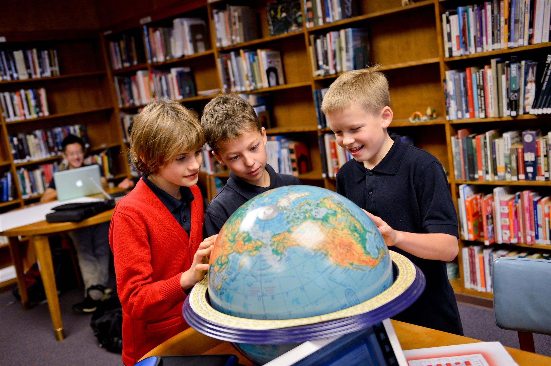 Grade Students 4 with globe