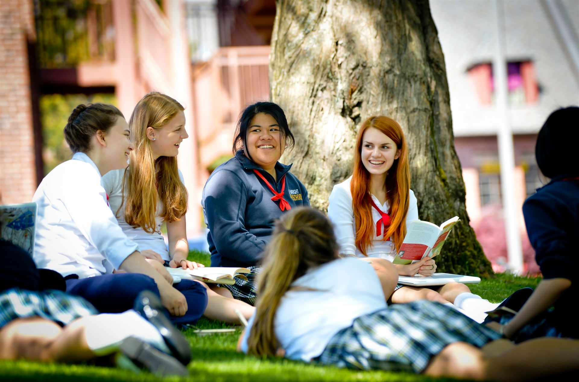 Annie Wright's campus provides many spaces for outdoor learning.