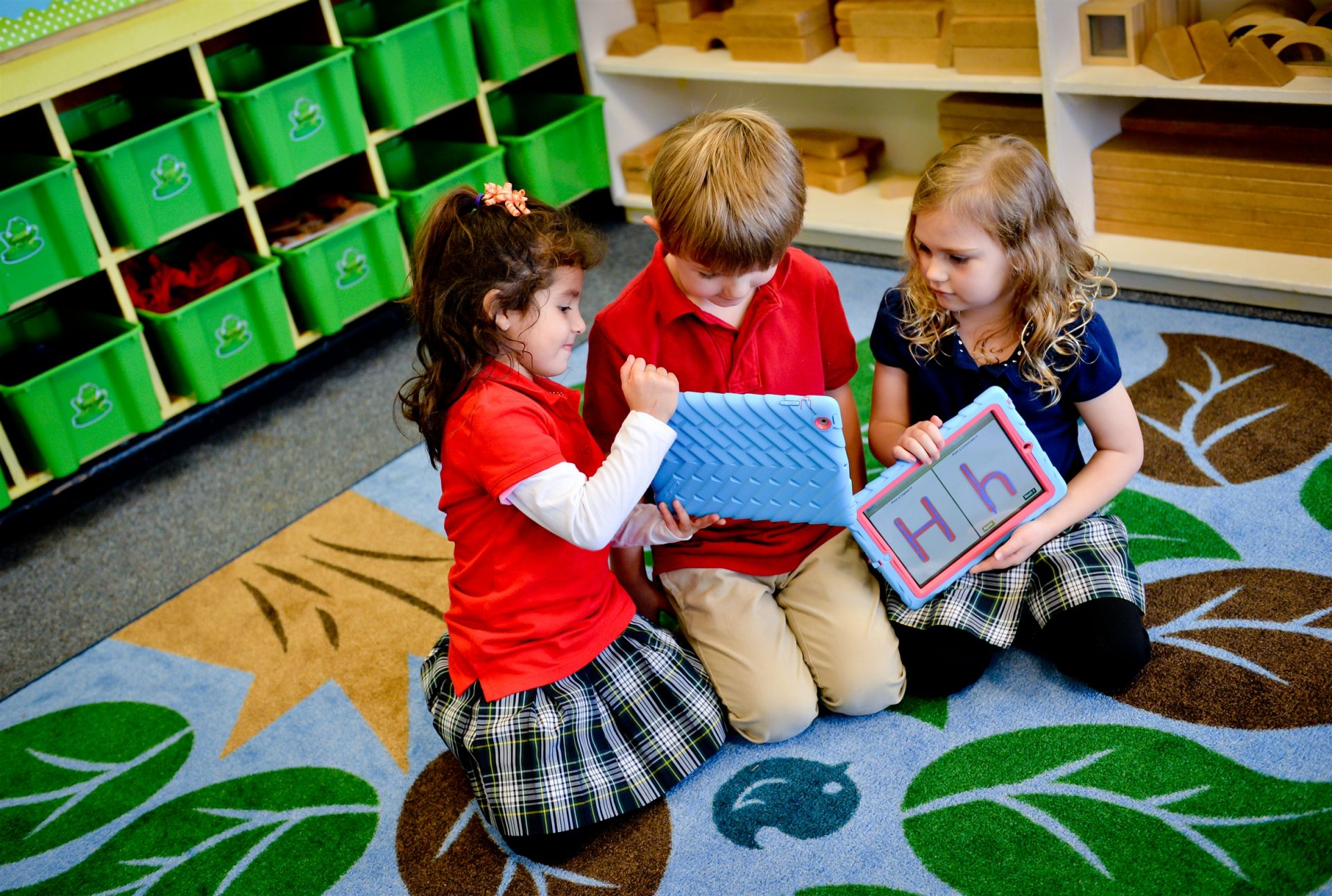 Early childhood classes use state of the art learning technologies.