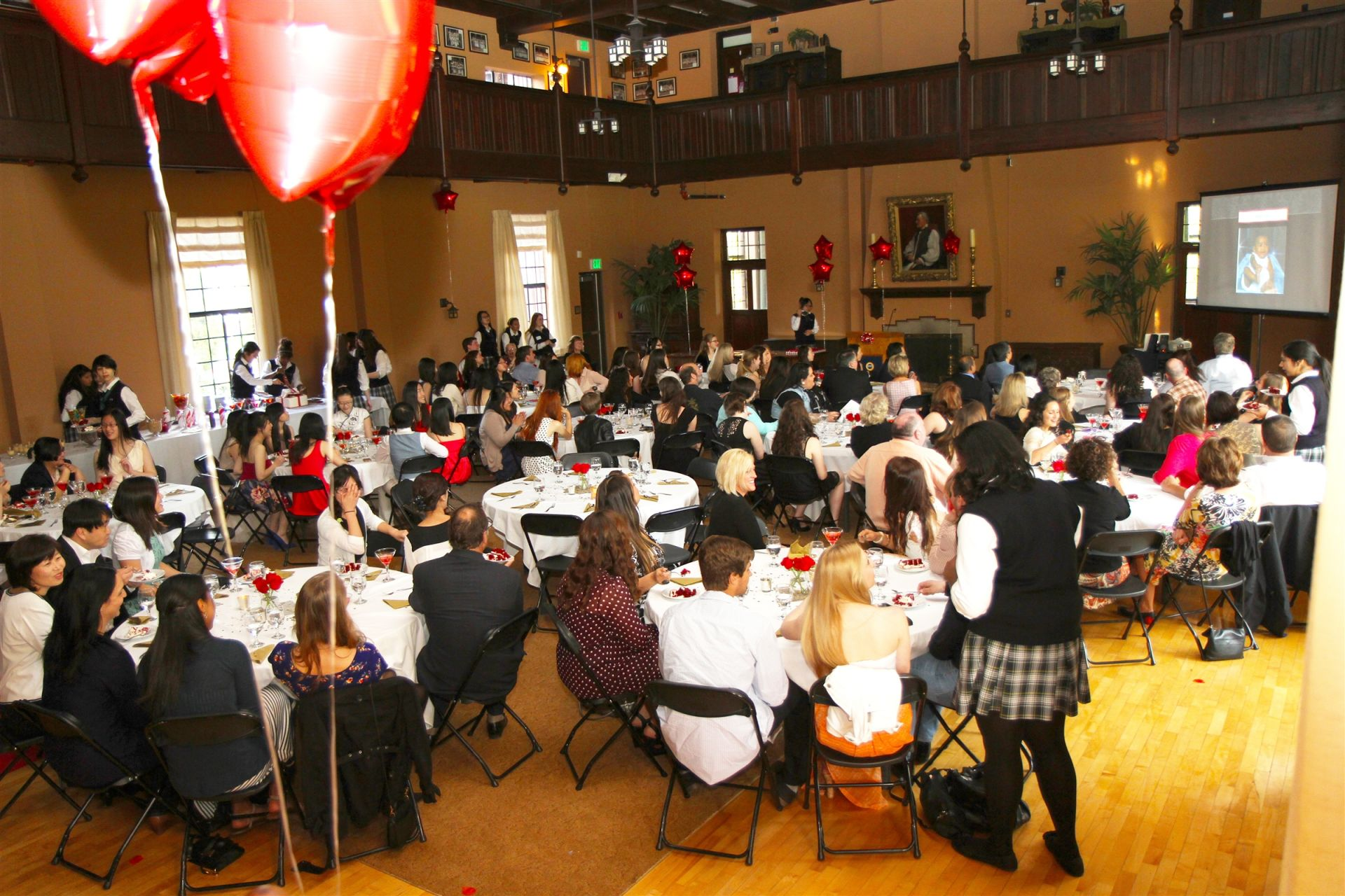 The Great Hall is used for many community and school events.