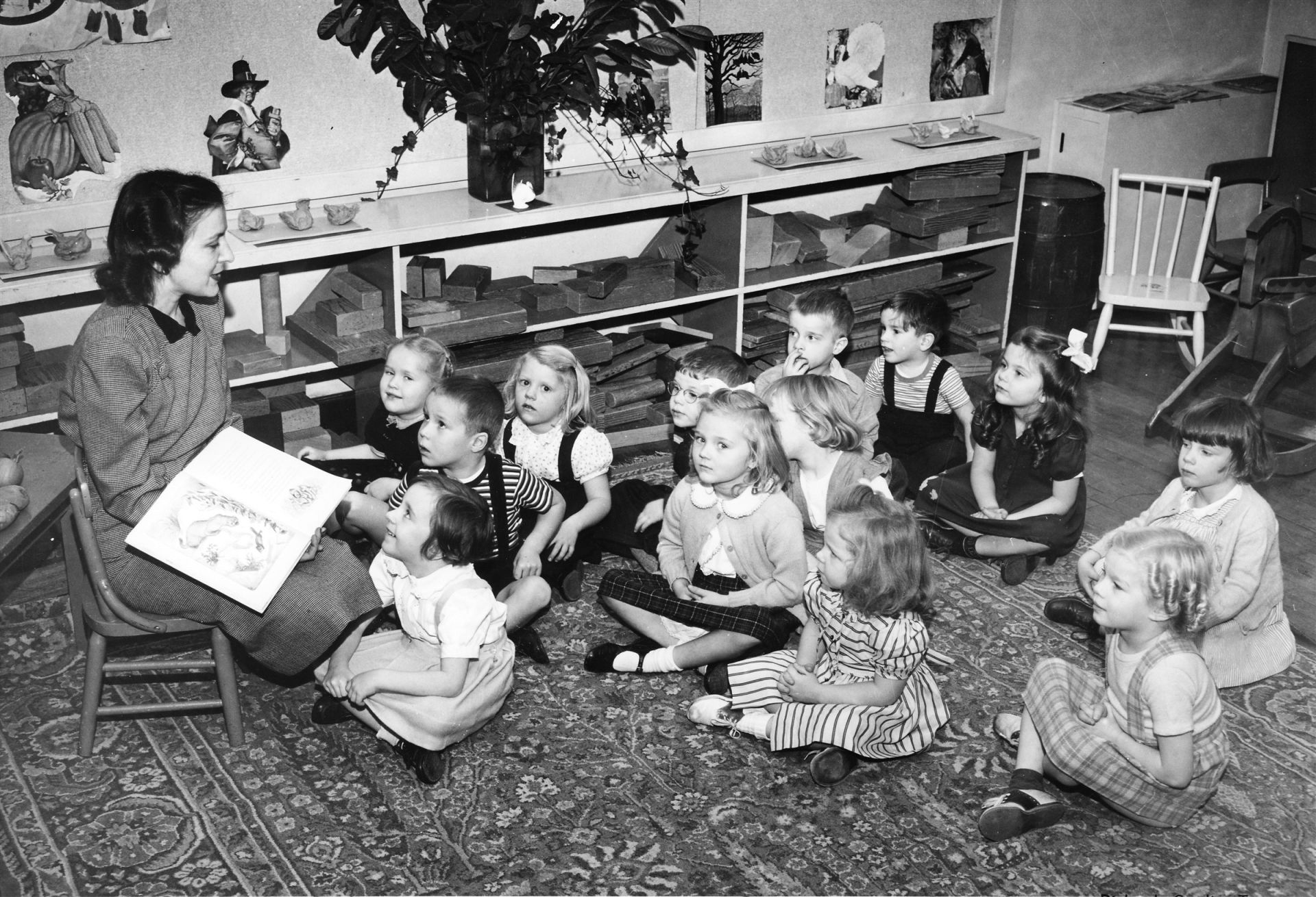 Kindergarten in the 1940s