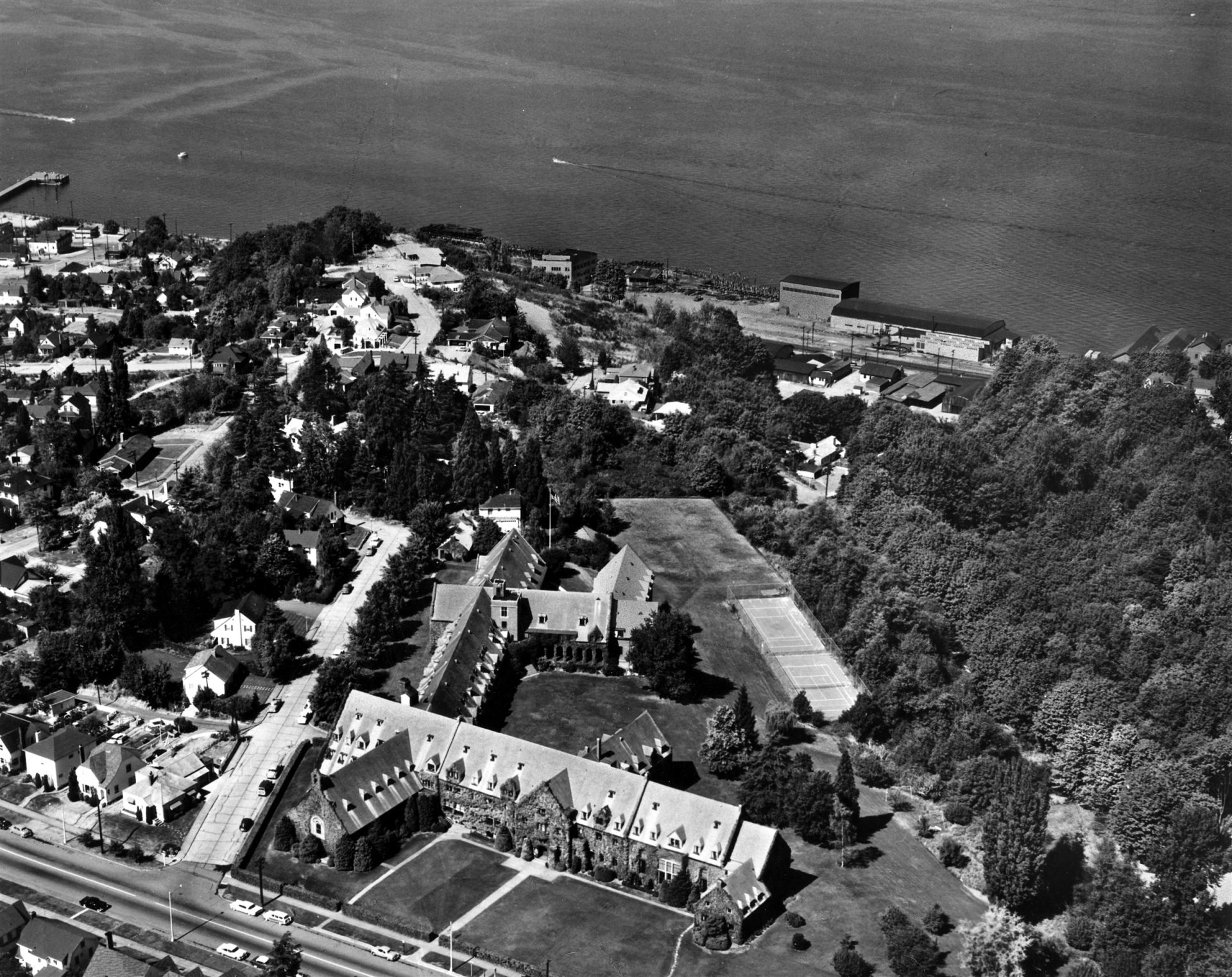 Campus overhead shot in 1957