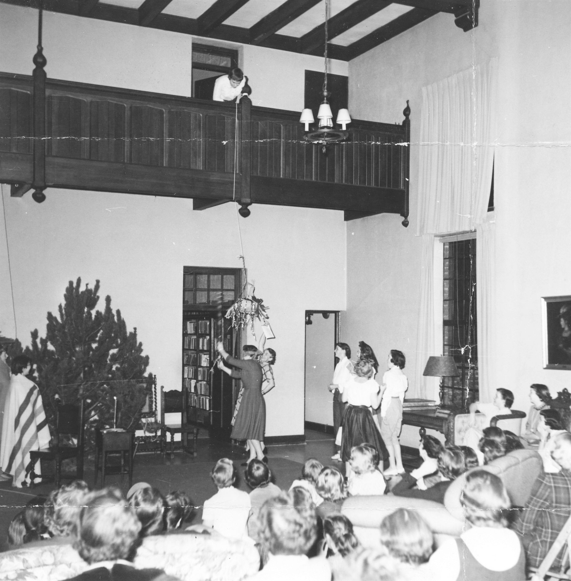 Xmas in the Great Hall in 1956