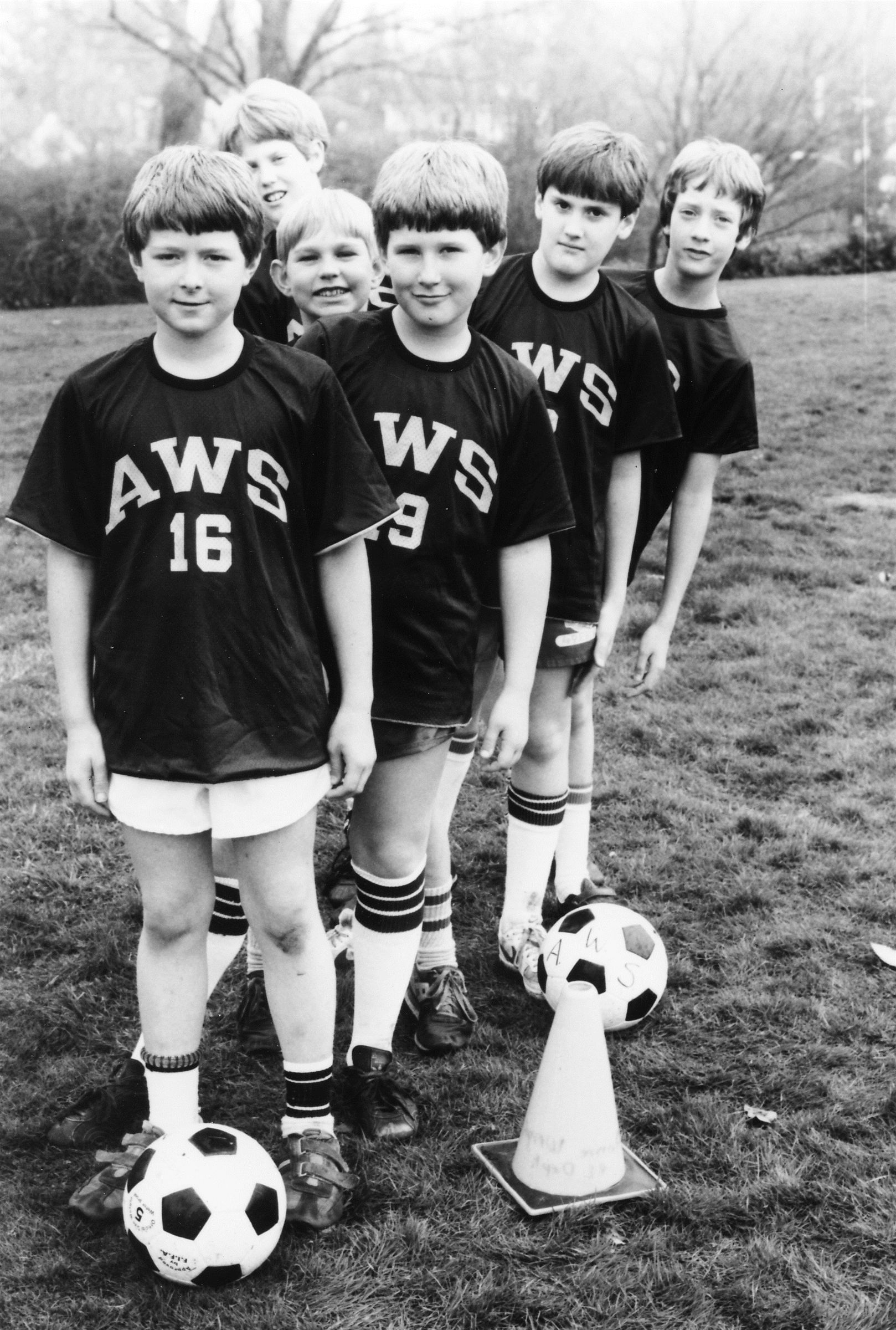 Boys soccer team in the 80s
