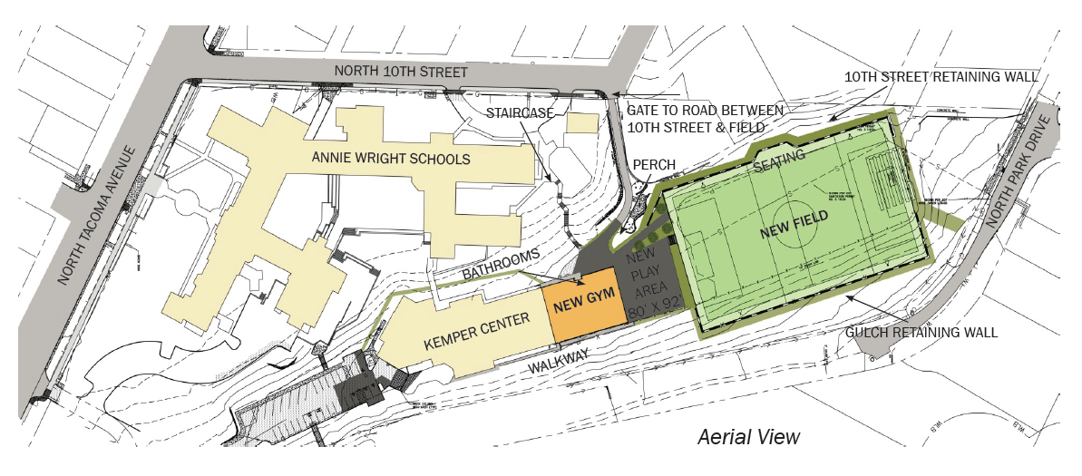 plan for new gym, play space and field