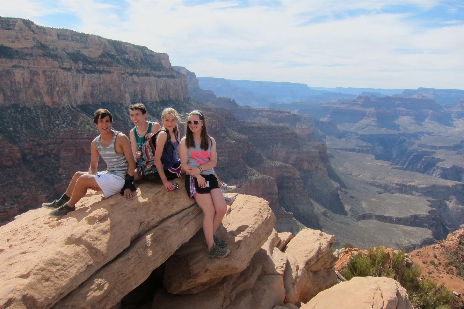 Annie Wright Students at the Grand Canyon